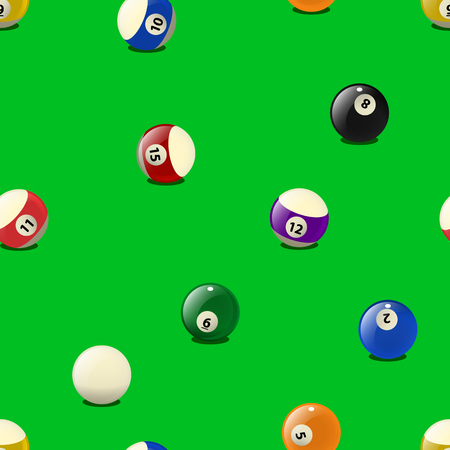 be the identity: Set of color billiards balls, pattern. Can be used for textiles, book design, pattern fills, web page background, surface textures, corporate identity, wrapping paper. Vector illustration eps10