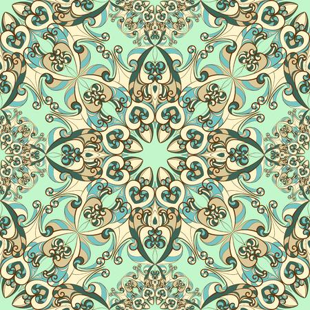 Vintage-Muster mit ethnischen Ornament. Kann für Textilien, Buchgestaltung, Muster füllt, Web-Seite Hintergrund, Oberflächenstrukturen, scrapbooking verwendet werden. Vektor-Illustration eps 10. Standard-Bild - 39177980