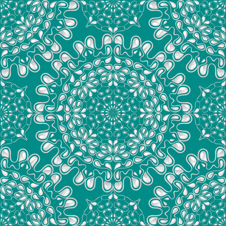 White water drops on turquoise background