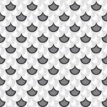 fish with scales: Seamless grayscale river fish scales. Dragon scale. Simple background for design. Illustration
