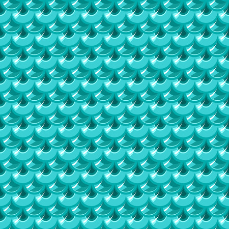 celadon blue: Seamless turquoise shiny river fish scales. Dragonscale. Brilliant background for design. Vector illustration eps 10