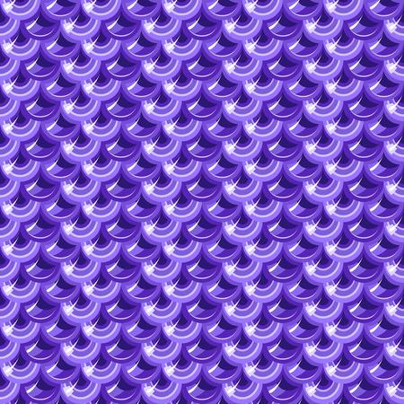 Seamless violet shiny river fish scales. Dragonscale. Brilliant background for design. Vector illustration eps 10