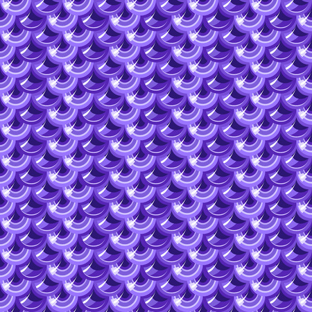 fish scales: Seamless violet shiny river fish scales. Dragonscale. Brilliant background for design. Vector illustration eps 10