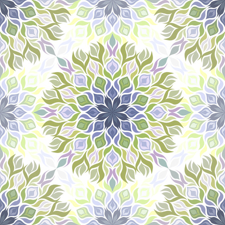 Farblichtmuster mit vegetativen Elementen. Kann für Textilien, Buchgestaltung, Muster füllt, Web-Seite Hintergrund, Oberflächenstrukturen, scrapbooking verwendet werden. Vektor-Illustration eps 10. Standard-Bild - 40352898