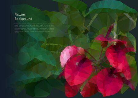 Vector Illustration der abstrakten Hintergrund für Design. Polygonal Mosaic. Blumen polygonalen Mosaik. Triangular Low-Poly-Stil. Vorlage für Plakat. Blumen polygonalen Mosaik. Flower close-up. Standard-Bild - 42915190