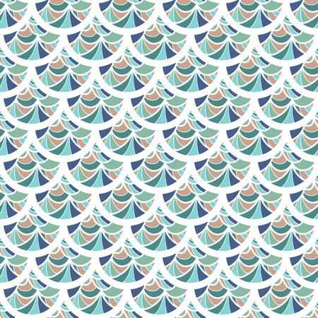 Escalas de la vendimia colorido inconsútil de los pescados de río. Escala de dragón. Fondo brillante para el diseño. Ilustración vectorial eps 10