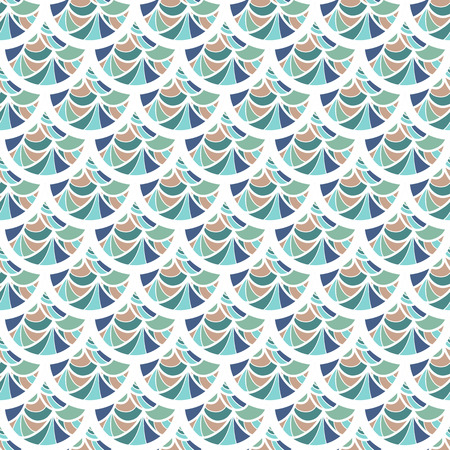 Seamless colorful vintage river fish scales. Dragonscale. Brilliant background for design. Vector illustration eps 10