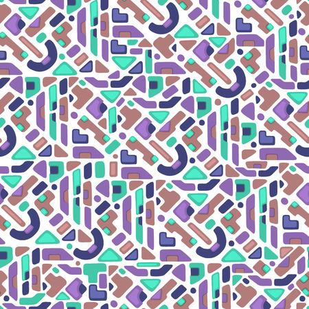 Ethnische geometrische nahtlose Muster. Kann für Textilien, Buchgestaltung, Muster füllt, Web-Seite Hintergrund, Oberflächenstrukturen, scrapbooking verwendet werden. Vektor-Illustration eps 10 Standard-Bild - 44115061