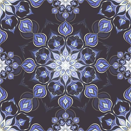 Farbige Mandala-Muster mit schönen Verzierung. Kann für Textilien, Buchgestaltung, Muster füllt, Web-Seite Hintergrund, Oberflächenstrukturen, scrapbooking verwendet werden. Vektor-Illustration eps 10. Standard-Bild - 44248679