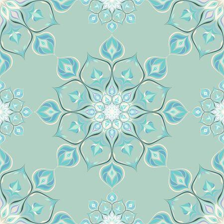 Farbige Mandala-Muster mit schönen Verzierung. Kann für Textilien, Buchgestaltung, Muster füllt, Web-Seite Hintergrund, Oberflächenstrukturen, scrapbooking verwendet werden. Vektor-Illustration eps 10. Standard-Bild - 44248678