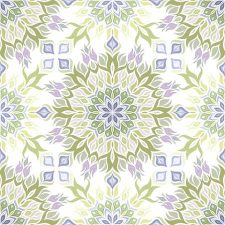 vegetative: Colored light pattern with vegetative elements.  Illustration