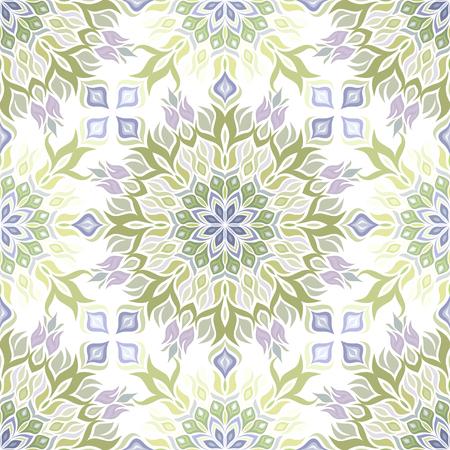 Colored light pattern with vegetative elements.  Stock Illustratie
