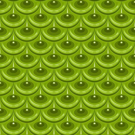 Seamless green shiny river fish scales. Dragon scale. Brilliant background for design.