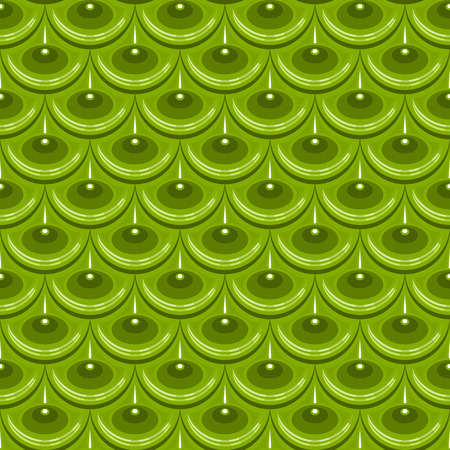 fish with scales: Seamless green shiny river fish scales. Dragon scale. Brilliant background for design.