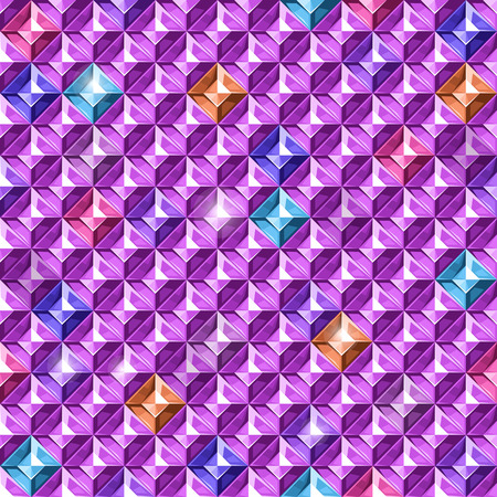 crystalline: Brilliant background. Texture with colored diamonds.Vector illustration