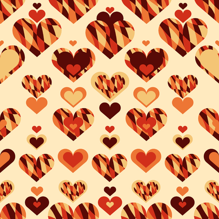 Simple seamless pattern with heart symbol. Vector illustration.