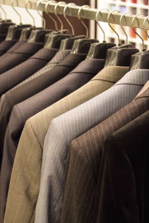 Shop for mens clothing Stock Photo