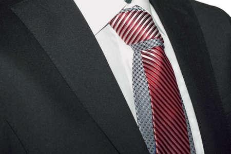 shirt and tie: Dark jacket, tie