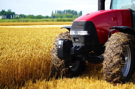 Tractor in a field, an exhibition of modern technology Stock Photo - 7262187