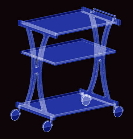 Trolley for a waiter on a blue background Stock Photo - 11388999