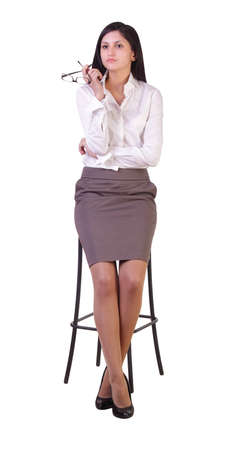 A young woman entrepreneur, is thinking about the processes