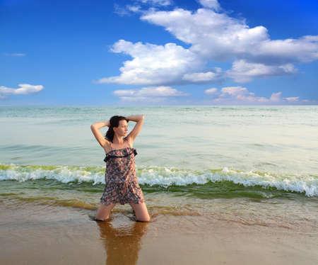 sensational: Woman on the Beach  Black Sea  Stock Photo