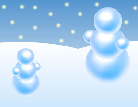 Christmas snowman with snowing background photo