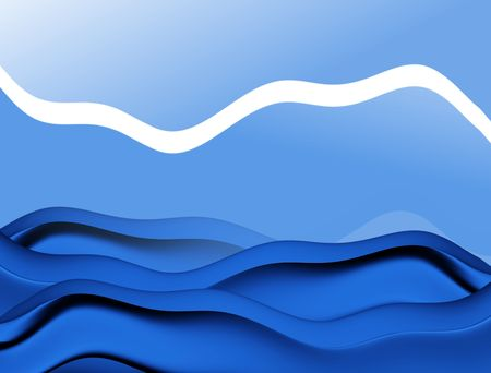 blend: Abstract waves on blue background Stock Photo