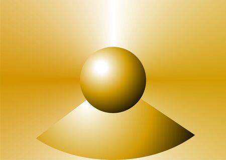 golden ball on golden background Stock Photo