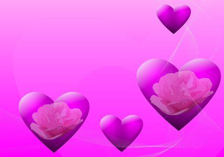 Valentijnsdag achtergrond Stockfoto