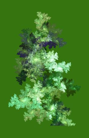 abstract bush on green background
