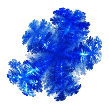 abstract fractal  on white background Stock Photo