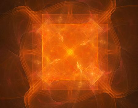 abstract fractal design on black background Stock Photo