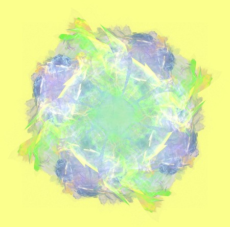 abstract colorful circle design on yellow background