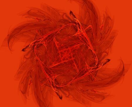 abstract fractal design on red background