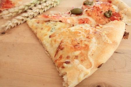 close up of italian pizza