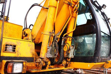 a big orange excavator at construction site Stock Photo - 5776633