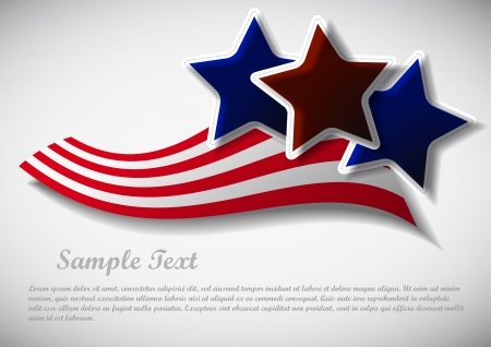 red and blue stars illustration with sample text Illustration