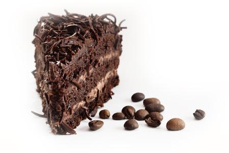 darab csokoládé torta kávébab