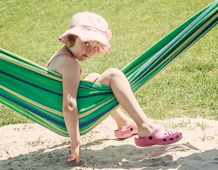 summer time - little girl on a hammock photo