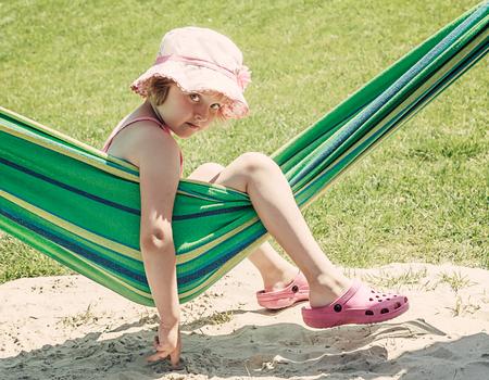 summer time - little girl on a hammock photo