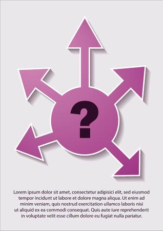 crossroads: vector concept - where to go, crossroads, decision problem