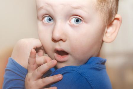 astonishment - portrait of a little boy