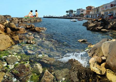 Hot mediterranian beach