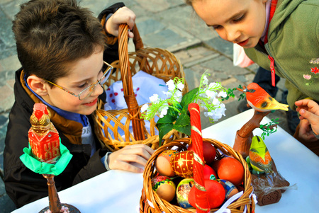 Children rejoice to arrival of Easter.