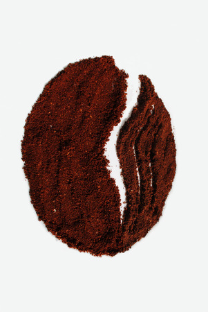 Art art object in the form of coffee grain in my photo. Stock Photo