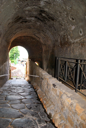 Architectural ruins Italian Pompeii. Stock Photo