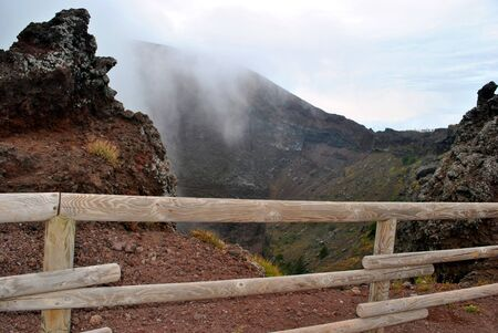 Expedition to a muzzle of an active volcano in Naples.
