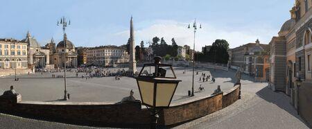 Chic a birds-eye view of the Italian Piazza Del Poppolo Square in Rome.