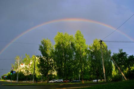 Spring rainbow over the city.